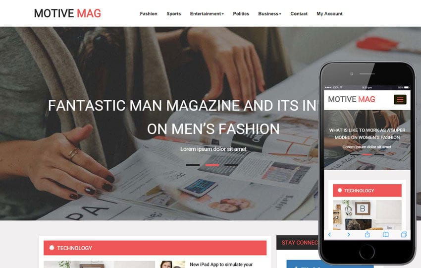 Magazine Templates - w3layouts.com