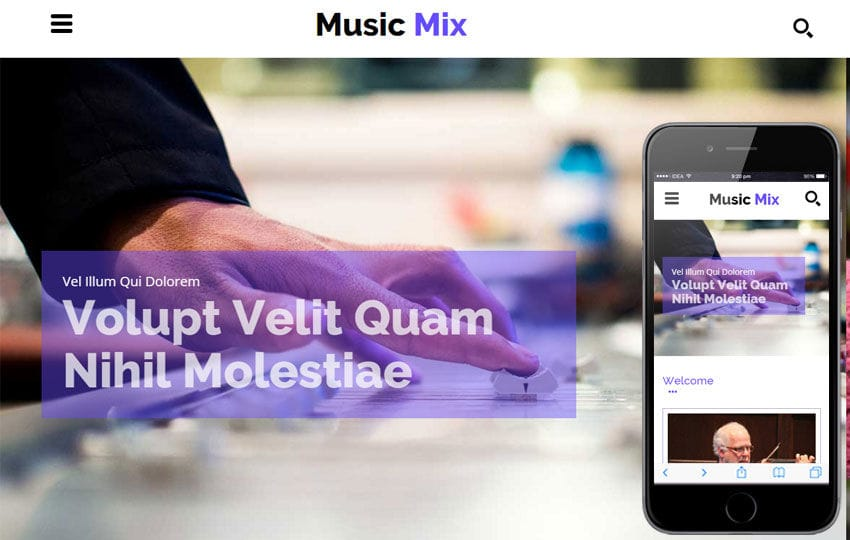 Music Mix a Entertainment Category Flat Bootstrap Responsive web template Mobile website template Free