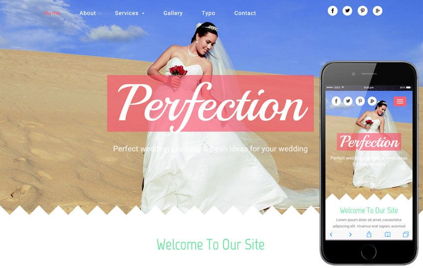 Perfection a Wedding Planner Flat Bootstrap Responsive Web Template Mobile website template Free