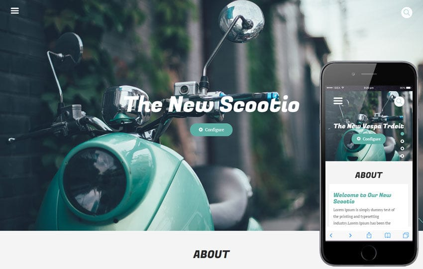 Scootio a Auto Mobile Category Flat Bootstrap Responsive Web Template Mobile website template Free