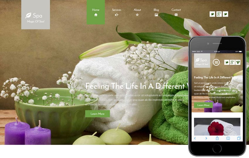 Spa a Beauty and Spa Category Flat Bootstrap Responsive Web Template Mobile website template Free