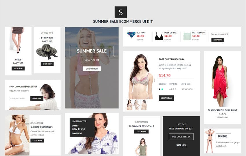 Summer Sale UI Kit a Flat Bootstrap Responsive Web Template