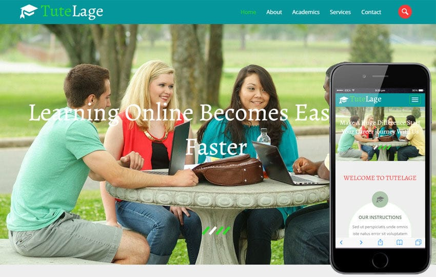 tutelage a educational category flat bootstrap responsive web