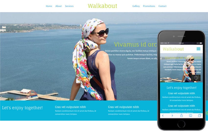 Walk About a Travel Guide Flat Bootstrap Responsive web template Mobile website template Free