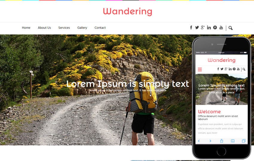 Wandering a Travel Guide Flat Bootstrap Responsive web template Mobile website template Free