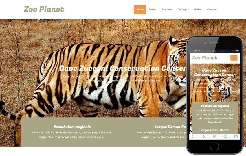 Zoo Planet a Animals Category Flat Bootstrap Responsive Web Template Mobile website template Free