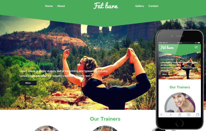 Fat Burn a Fitness Category Flat Bootstrap Responsive Web Template Mobile website template Free