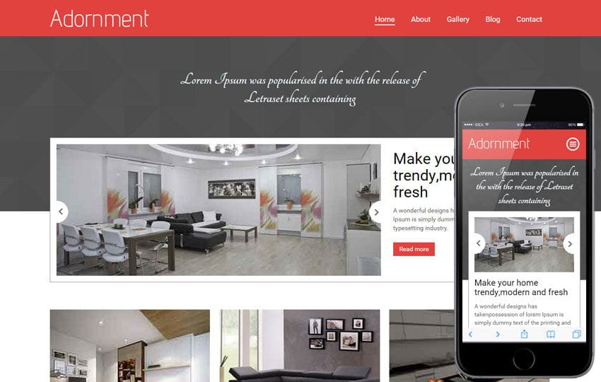 Adornment a Interior Architects Multipurpose Flat Bootstrap Responsive Web Template Mobile website template Free