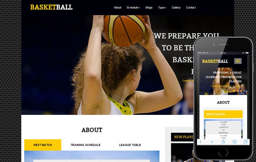 Basketball a Sports Category Flat Bootstrap Responsive Web Template Mobile website template Free