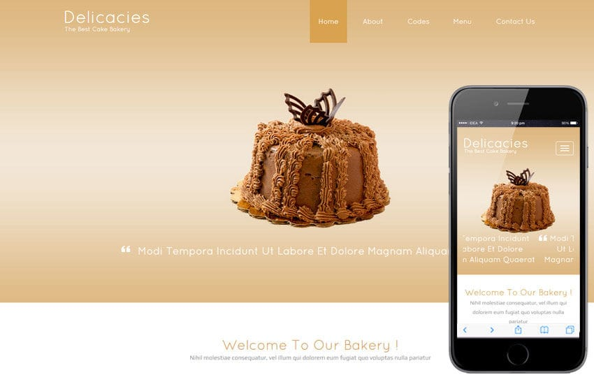 Delicacies a Food Category Flat Bootstrap Responsive Web Template Mobile website template Free
