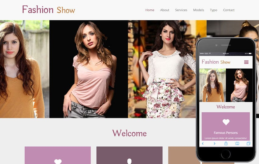 Fashion Show A Fashion Category Flat Bootstrap Responsive Web - Fashion website templates