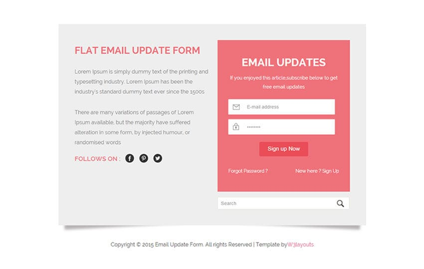 css email form template gallery template design ideas. Black Bedroom Furniture Sets. Home Design Ideas