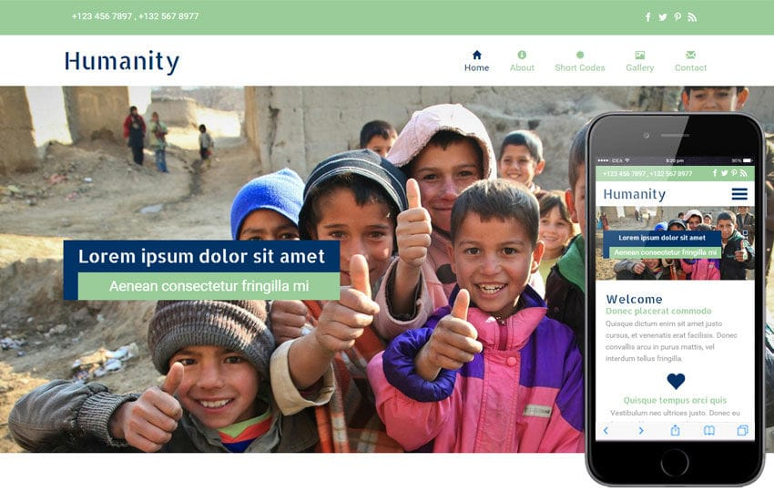 Humanity a Charity Category Flat Bootstrap Responsive Web Template Mobile website template Free
