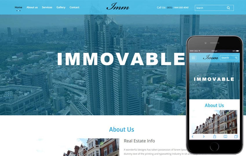 Immovable a Real Estate Category Flat Bootstrap Responsive Web ...