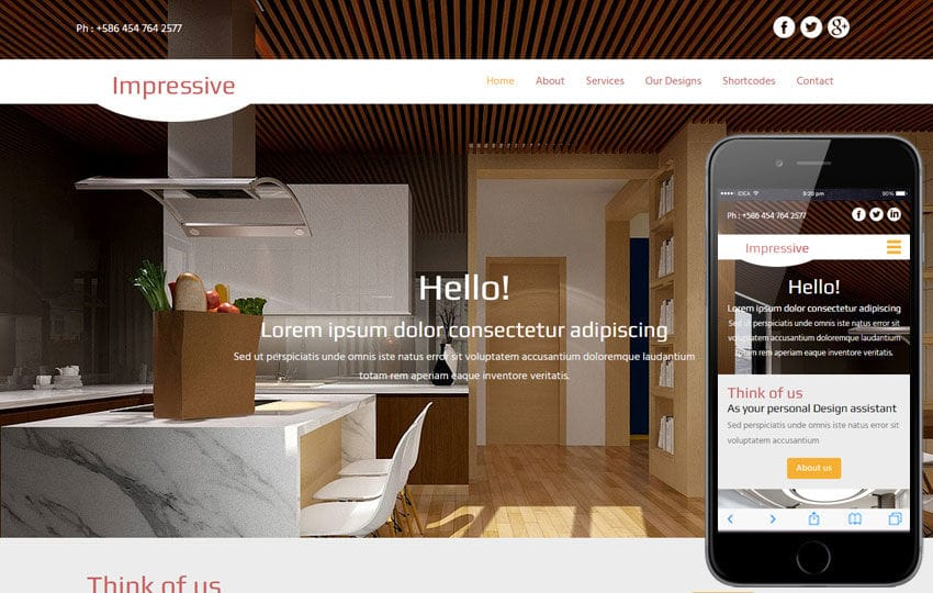 Interior Design A Interior Architects Multipurpose Flat Bootstrap Responsive Web Template By