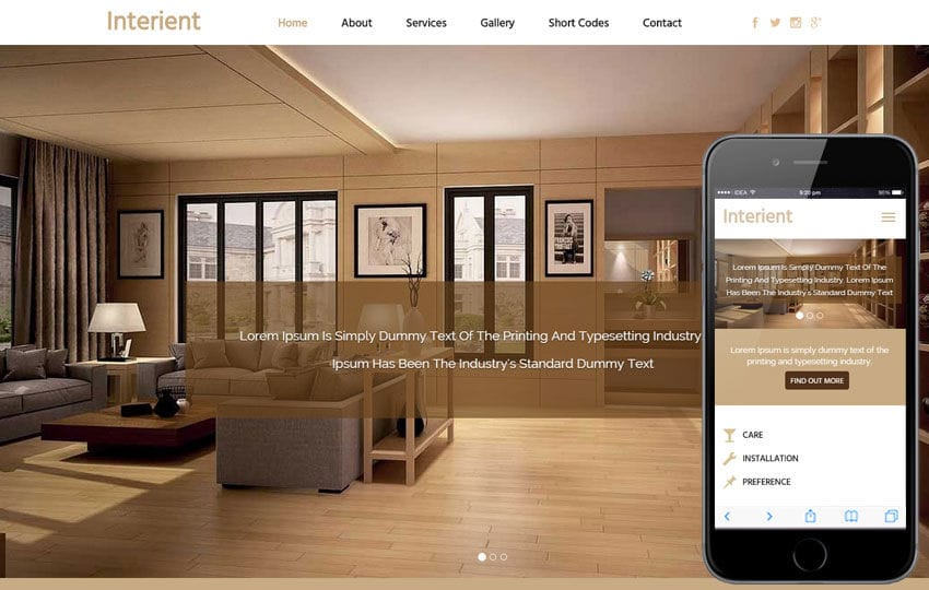 Interient A Interior Architects Flat Bootstrap Responsive Web Template Mobile Website Free