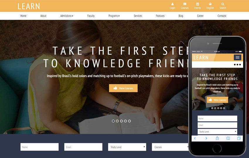Learn a Educational Guidance Flat Bootstrap Responsive web template Mobile website template Free