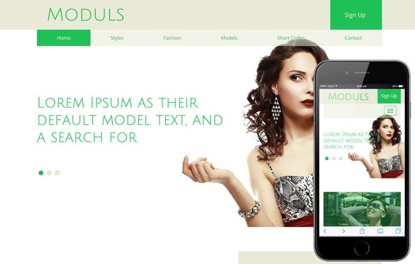 Moduls a Fashion Category Flat Bootstrap Responsive Web Template Mobile website template Free
