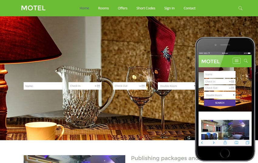 Motel a Hotel Category Flat Bootstrap Responsive Web Template by ...