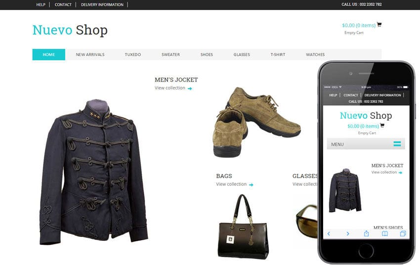 nuevo shop a flat ecommerce bootstrap responsive web template by