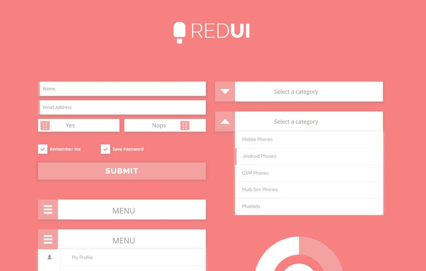 Red UI Kit a Flat Bootstrap Responsive Web Template by w3layouts