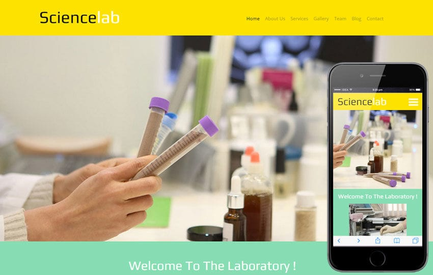 Science Lab a Medical Category Flat Bootstrap Responsive Web Template Mobile website template Free