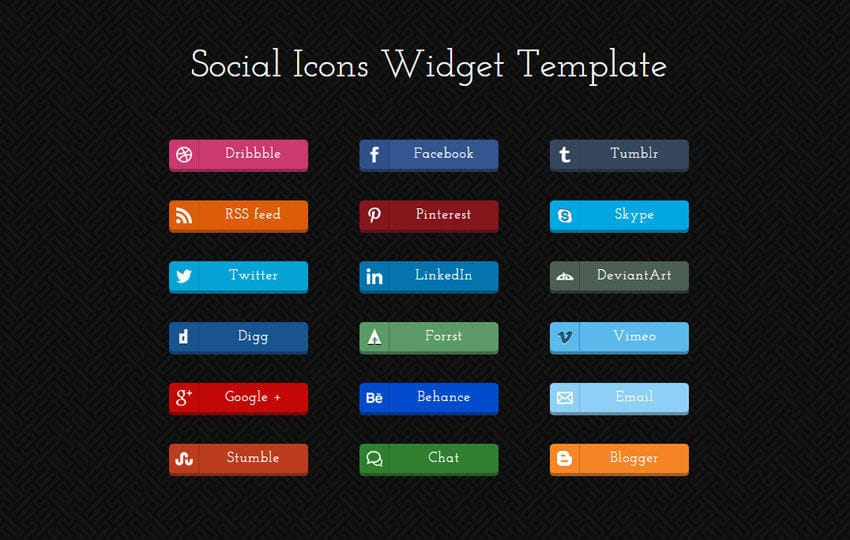 Social Icons Responsive Widget Template by w3layouts