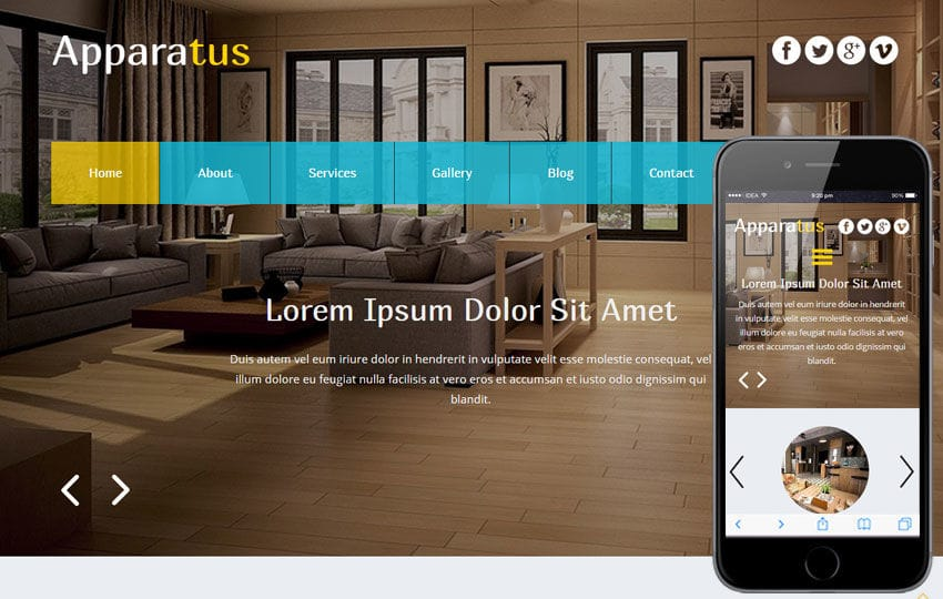 Apparatus a Interior Architects Multipurpose Flat Bootstrap Responsive Web Template Mobile website template Free