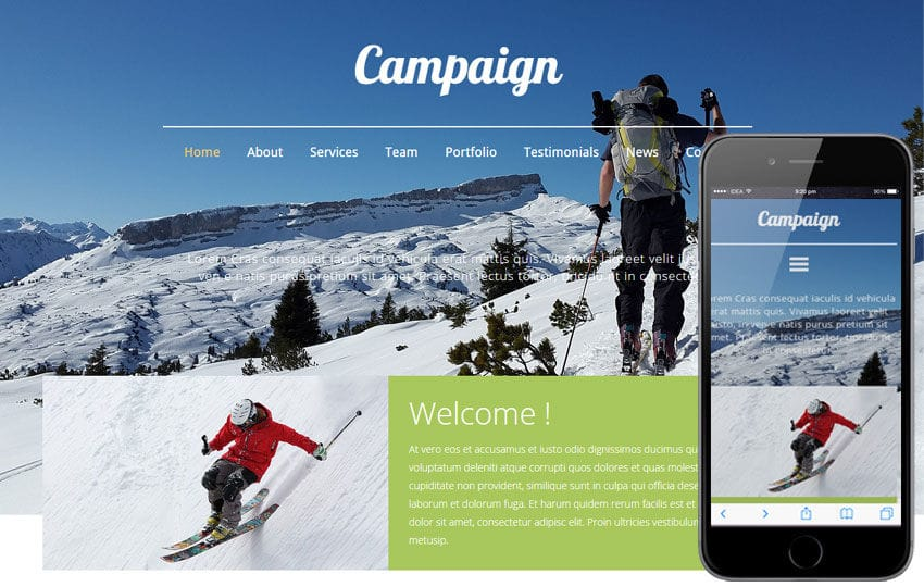 Campaign a Travel Guide Flat Bootstrap Responsive web template by ...