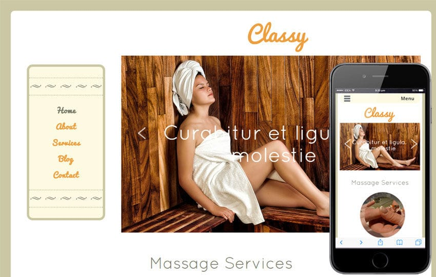 Classy a Beauty and Spa Category Flat Bootstrap Responsive Web Template Mobile website template Free