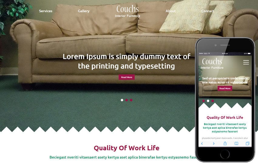 Couchs a Furniture Category Flat Bootstrap Responsive Web Template Mobile website template Free