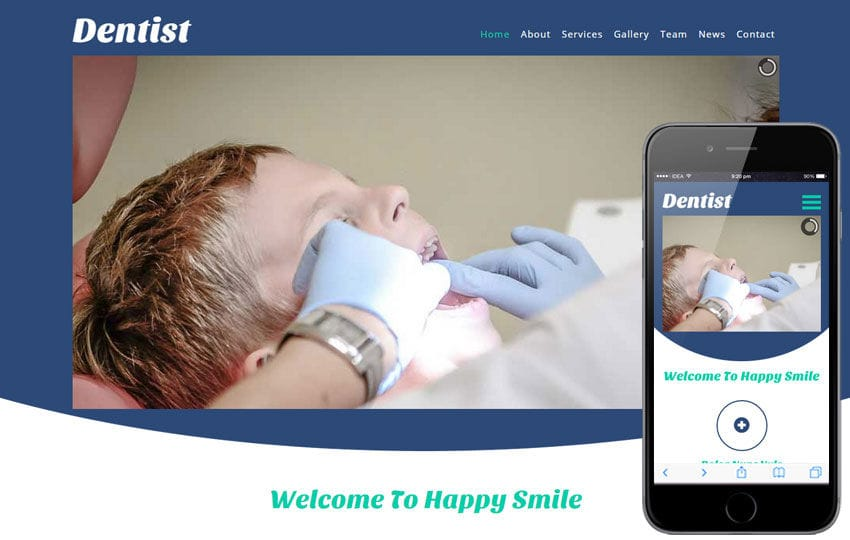 Dentist a Medical Category Flat Bootstrap Responsive Web Template Mobile website template Free