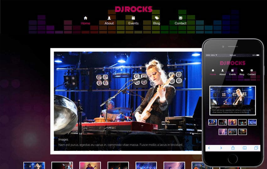 Dj Rocks A Entertainment Category Flat Bootstrap Responsive Web - Dj website templates