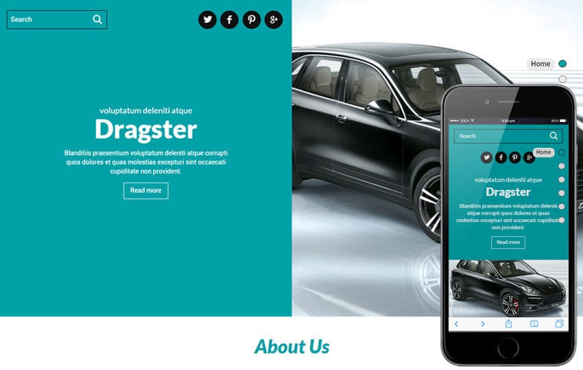 Dragster a Auto Mobile Category Flat Bootstrap Responsive Web Template Mobile website template Free
