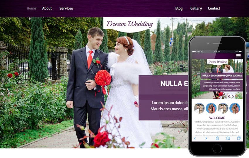 Dream Wedding A Planner Flat Bootstrap Responsive Web Template