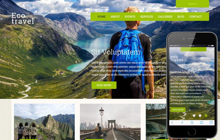 Eco Travel a Travel Guide Flat Bootstrap Responsive web template Mobile website template Free