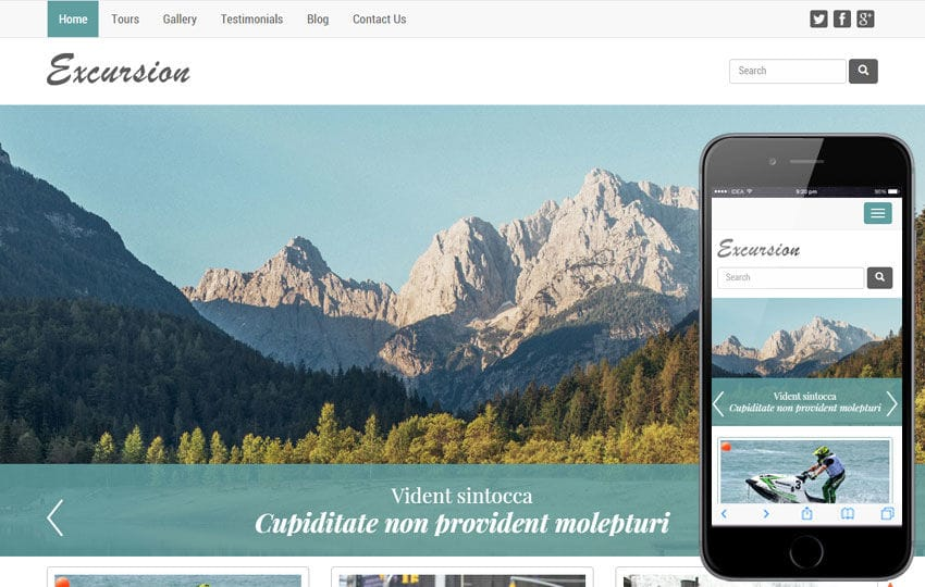 Excursion a Travel Guide Flat Bootstrap Responsive web template Mobile website template Free