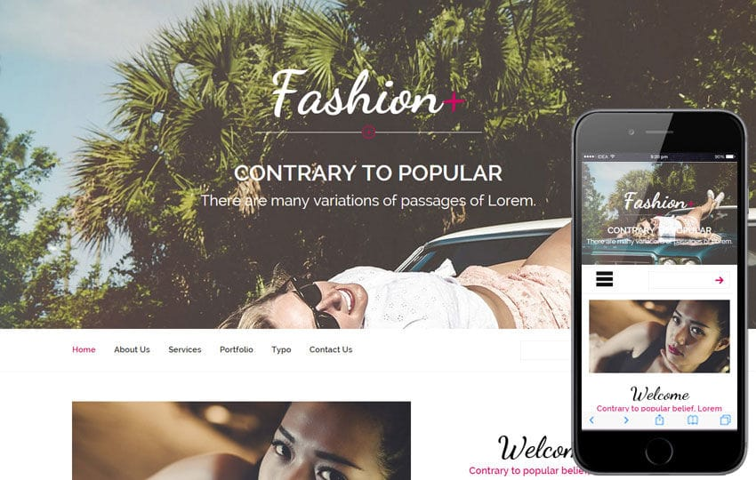 Fashion Plus a Fashion Category Flat Bootstrap Responsive Web Template Mobile website template Free