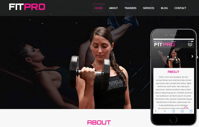 Fit Pro a Sports Category Flat Bootstrap Responsive Web Template Mobile website template Free