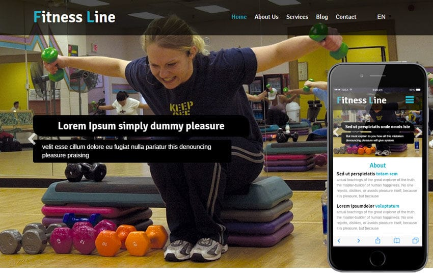 Fitness Line a Sports Category Flat Bootstrap Responsive Web Template Mobile website template Free