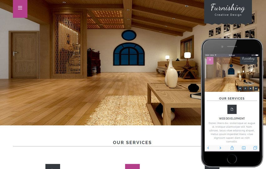 Furnishing a Interior Architects Multipurpose Flat Bootstrap Responsive Web Template Mobile website template Free