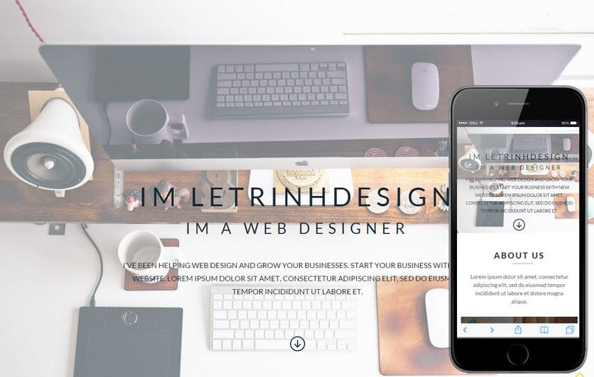 Letrinh a Personal Portfolio Flat Bootstrap Responsive Web Template