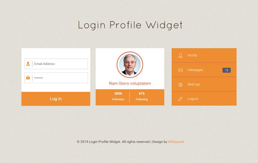 login profile responsive widget template by w3layouts