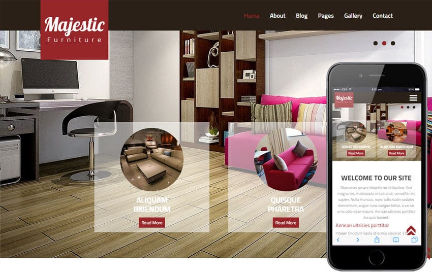 Majestic a Interior Architects Multipurpose Flat Bootstrap Responsive Web Template Mobile website template Free