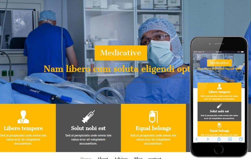 Medicative a Medical Category Flat Bootstrap Responsive Web Template Mobile website template Free