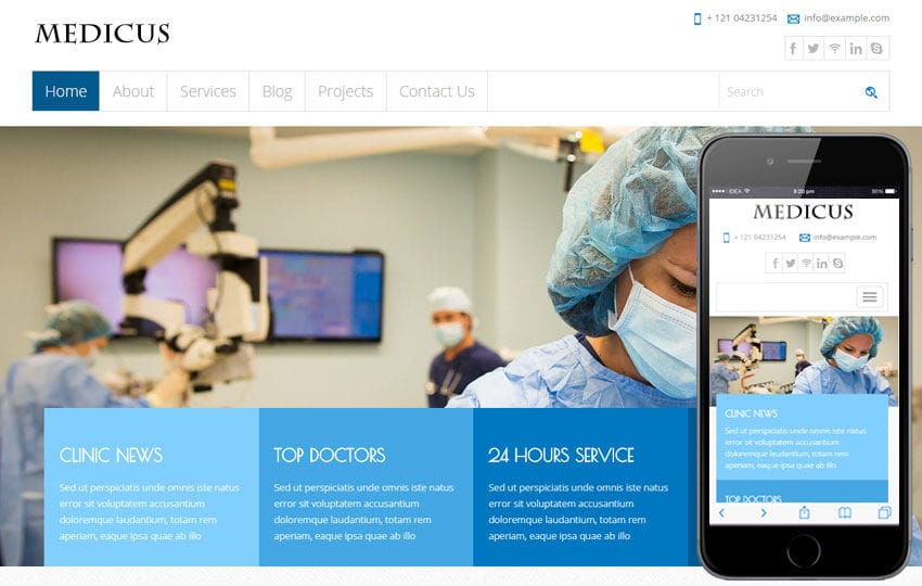 Medicus a Medical Category Flat Bootstrap Responsive Web Template Mobile website template Free