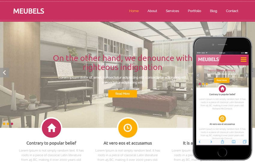 Meubels a Furniture Category Flat Bootstrap Responsive Web Template Mobile website template Free