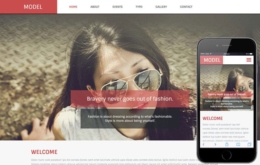 Model a Fashion Category Flat Bootstrap Responsive Web Template Mobile website template Free