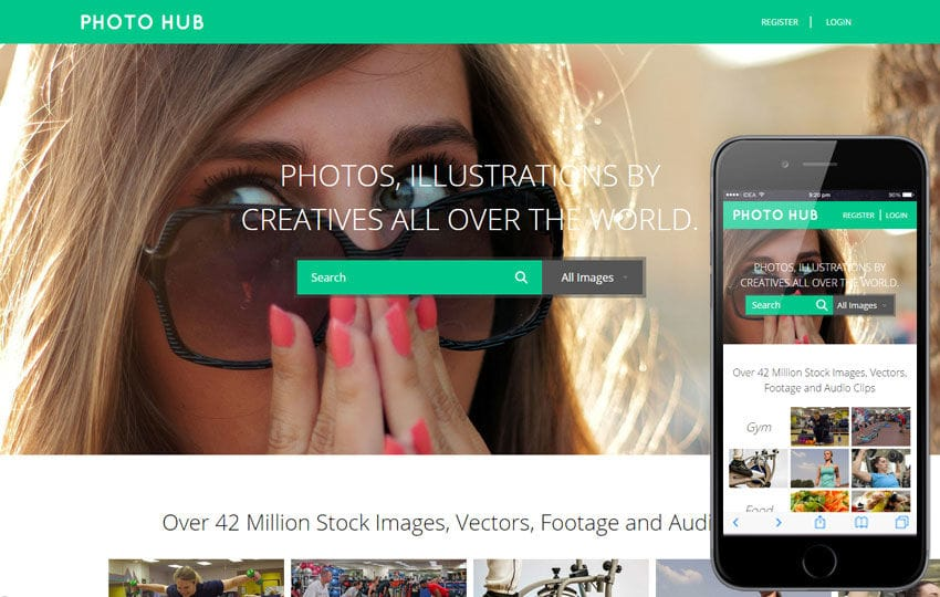 Photo Hub a Photo gallery Flat Bootstrap Responsive Web Template Mobile website template Free