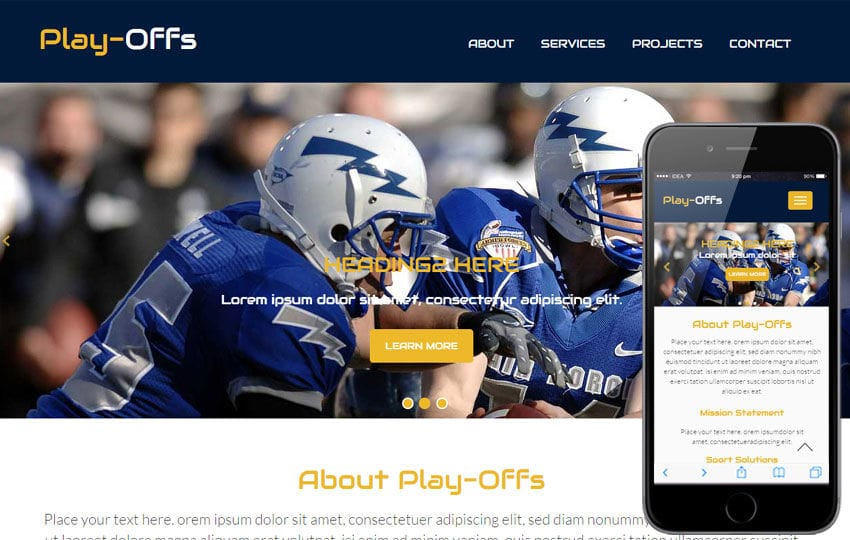 Play Offs a Sports Category Flat Bootstrap Responsive Web Template Mobile website template Free